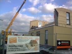 Výstavba prvního domu - dodavatel Ecomodula č.18