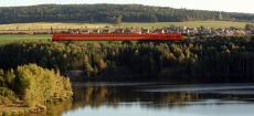 Lokalita Ejpovice - pohled přes jezero