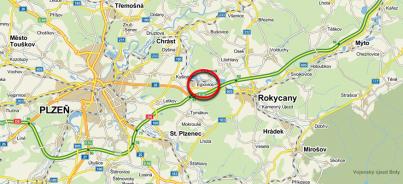 Ejpovice - označení na mapě